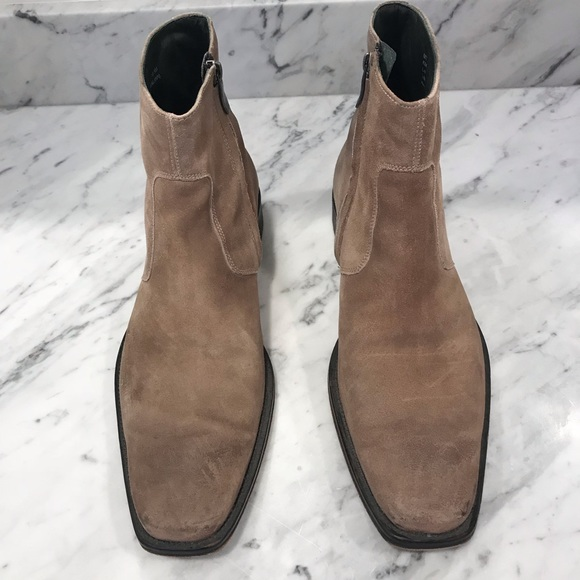 Mens Tan Suede Kenneth Cole Ankle Boots